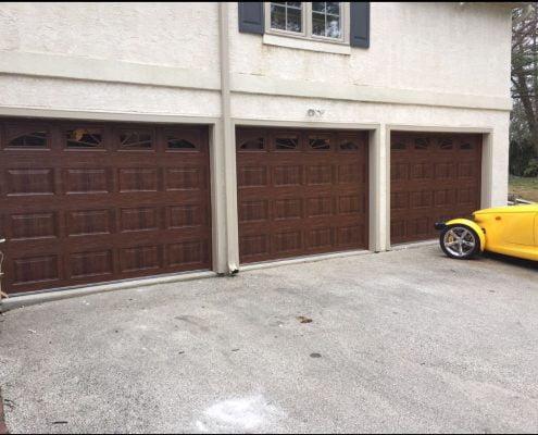 3 garage doors